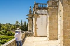 Αρχαίο 600χρονο κάστρο σε Tomar, Πορτογαλία Στοκ φωτογραφία με δικαίωμα ελεύθερης χρήσης