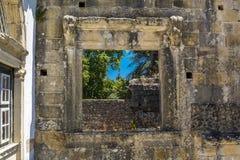 Αρχαίο 600χρονο κάστρο σε Tomar, Πορτογαλία Στοκ φωτογραφίες με δικαίωμα ελεύθερης χρήσης