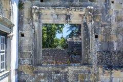 Αρχαίο 600χρονο κάστρο σε Tomar, Πορτογαλία Στοκ εικόνες με δικαίωμα ελεύθερης χρήσης