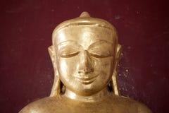 Αρχαίο χρυσό άγαλμα του Βούδα Στοκ Εικόνες