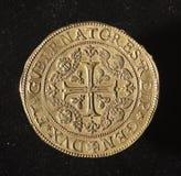 Αρχαίο χρυσό νόμισμα της δημοκρατίας της Γένοβας Ιταλία Στοκ Εικόνες
