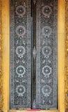 αρχαίο χρυσό παράθυρο γλυπτικής ξύλινο Στοκ Φωτογραφίες