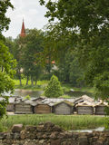 Αρχαίο χωριό στο νησί Στοκ Εικόνα