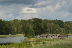 Αρχαίο χωριό στο νησί στοκ εικόνα με δικαίωμα ελεύθερης χρήσης