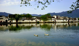 αρχαίο χωριό της Κίνας hongcun Στοκ Εικόνα