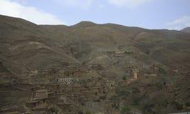 Χωριό Berber στα βουνά Στοκ φωτογραφία με δικαίωμα ελεύθερης χρήσης