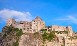 Αρχαίο Aragonese Castle, νησί ισχίων, Ιταλία Στοκ φωτογραφία με δικαίωμα ελεύθερης χρήσης
