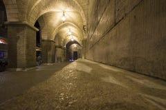 Αρχαίο Arcade μιας εκκλησίας Στοκ φωτογραφία με δικαίωμα ελεύθερης χρήσης