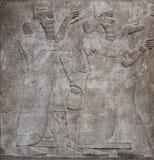αρχαίο assyrian ανάγλυφο Θεών Στοκ εικόνα με δικαίωμα ελεύθερης χρήσης