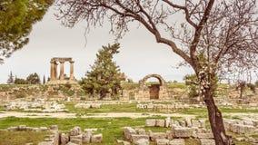 Αρχαίο Corinth, Ελλάδα Στοκ Εικόνες