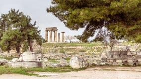 Αρχαίο Corinth, Ελλάδα Στοκ φωτογραφία με δικαίωμα ελεύθερης χρήσης