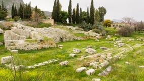 Αρχαίο Corinth, Ελλάδα Στοκ Εικόνα