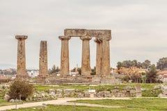 Αρχαίο Corinth, Ελλάδα Στοκ Φωτογραφία