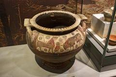 Αρχαίο Corinth, σκάφη στο μουσείο Στοκ εικόνα με δικαίωμα ελεύθερης χρήσης