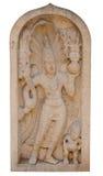 Αρχαίο guardstone κοντά σε έναν βουδιστικό ναό, Σρι Λάνκα Στοκ εικόνα με δικαίωμα ελεύθερης χρήσης