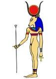 αρχαίο hathor Θεών της Αιγύπτου διανυσματική απεικόνιση