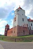 Αρχαίο Mir Castle σύνθετο στη Λευκορωσία Στοκ Εικόνα