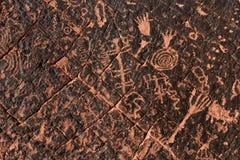 Αρχαίο Petroglyph υπόβαθρο Στοκ Εικόνα