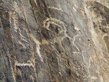 Αρχαίο petroglyphs ή tamga argali Στοκ Εικόνα
