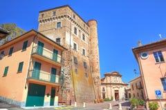 αρχαίο roddi plaza της Ιταλίας κάστ Στοκ εικόνες με δικαίωμα ελεύθερης χρήσης