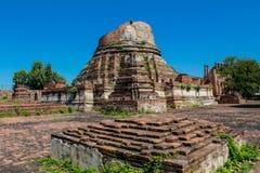 Αρχαίο stupa πάρκων Autthaya ιστορικό Στοκ Εικόνες