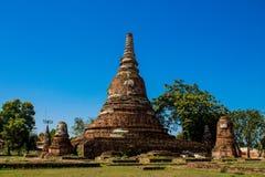 Αρχαίο stupa πάρκων Autthaya ιστορικό Στοκ Φωτογραφίες