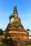 Αρχαίο Stupa σε Ayutthaya Στοκ Φωτογραφία