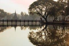 Αρχαίο stupa στο ιστορικό πάρκο Sukhothai Στοκ φωτογραφίες με δικαίωμα ελεύθερης χρήσης