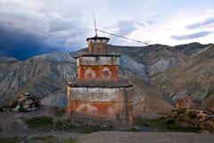 Αρχαίο stupa Bon, Νεπάλ στοκ εικόνες