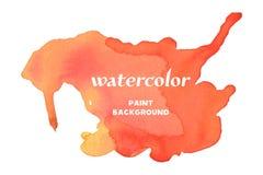 αρχαίο watercolor εγγράφου ανασκόπησης σκοτεινό κίτρινο Διανυσματικό κόκκινο Watercolour Στοκ Φωτογραφίες