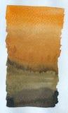αρχαίο watercolor εγγράφου ανασκόπησης σκοτεινό κίτρινο Στοκ Φωτογραφίες