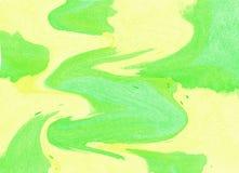 αρχαίο watercolor εγγράφου ανασκόπησης σκοτεινό κίτρινο Στοκ Εικόνα