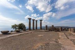 Αρχαιολογική περιοχή σε Assos, Τουρκία Στοκ εικόνα με δικαίωμα ελεύθερης χρήσης