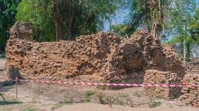 Αρχαιολογική περιοχή στην ιστορία μελέτης δεν υπάρχει κανένα εμπόδιο στους ξένους Στοκ φωτογραφίες με δικαίωμα ελεύθερης χρήσης