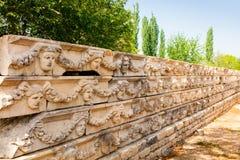 Αρχαιολογική περιοχή της πόλης Helenistic Aphrodisias στη δυτική Ανατολία, Τουρκία Στοκ Εικόνες