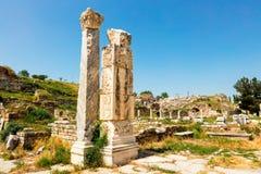 Αρχαιολογική περιοχή της πόλης Helenistic Aphrodisias στη δυτική Ανατολία, Τουρκία Στοκ εικόνα με δικαίωμα ελεύθερης χρήσης