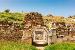 Αρχαιολογική περιοχή της πόλης Helenistic Aphrodisias στη δυτική Ανατολία, Τουρκία Στοκ φωτογραφίες με δικαίωμα ελεύθερης χρήσης