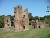 Αρχαιολογική περιοχή του περιφερειακού φυσικού πάρκου του Appia Antica στη Ρώμη, Ιταλία Στοκ Εικόνα