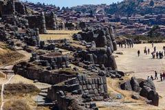 Αρχαιολογικός τομέας Sacsayhuaman, Cusco, Περού στοκ εικόνες