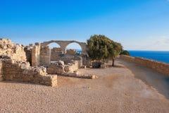 Αρχαιολογικά υπολείμματα του Κουρίου στη Κύπρο Στοκ εικόνες με δικαίωμα ελεύθερης χρήσης