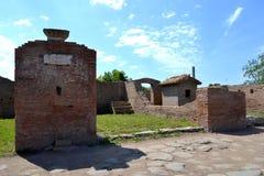 Αρχαιολογικές ανασκαφές Ostia Antica, Ρώμη Ιταλία Στοκ φωτογραφίες με δικαίωμα ελεύθερης χρήσης