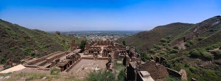 Αρχαιολογική περιοχή και βουδιστικό μοναστήρι Πακιστάν takht-ι-Bhai Parthian στοκ εικόνα