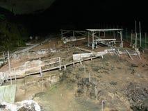 Αρχαιολογική περιοχή στη σπηλιά Niah, Sarawak, Μαλαισία Στοκ Εικόνα