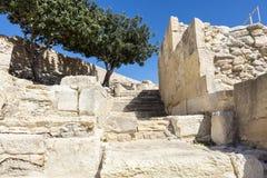 Αρχαιολογική περιοχή του Κουρίου στη Κύπρο Στοκ Εικόνες