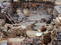 Αρχαιολογική περιοχή Akrotiri στοκ φωτογραφίες