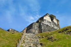 Αρχαιολογική περιοχή Xunantunich του των Μάγια πολιτισμού στη δυτική Μπελίζ Στοκ Εικόνες