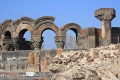 Αρχαιολογική περιοχή Zvartnots Στοκ φωτογραφίες με δικαίωμα ελεύθερης χρήσης