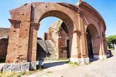 Αρχαιολογική ρωμαϊκή περιοχή σε Ostia Antica - Ρώμη - Ιταλία Στοκ εικόνες με δικαίωμα ελεύθερης χρήσης