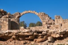 Αρχαιολογικό πάρκο της Πάφος στη Kato Pafos στη Κύπρο Στοκ φωτογραφίες με δικαίωμα ελεύθερης χρήσης