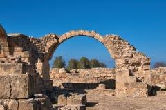 Αρχαιολογικό πάρκο της Πάφος στη Kato Pafos στη Κύπρο Στοκ Φωτογραφίες